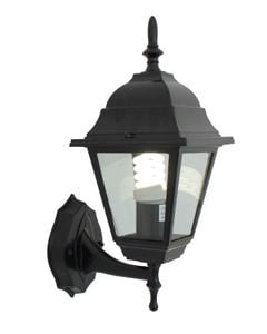Lantern 4 Panel Up Facing Black Eurolux O14B