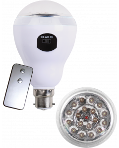 Lamp LED Rechargeable B22 With Remote Ellies FLEDB22