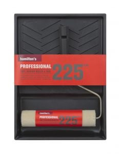 Paint Roller & Tray Set Mohair 225mm Hamilton  7710
