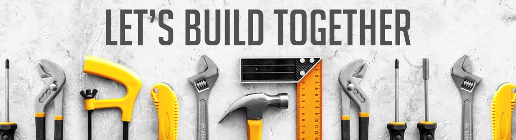 Let's build together banner